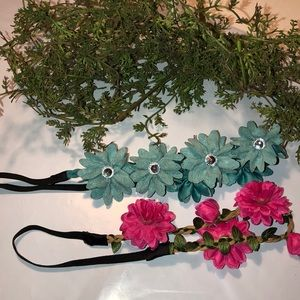 Floral Headbands Set of 2 Adult size